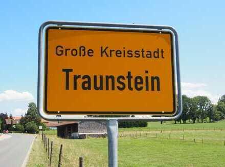 Baugrundstück in Traunsteins bester Wohnlage sonnige Südlage an Anliegerstraße mit Bergblick