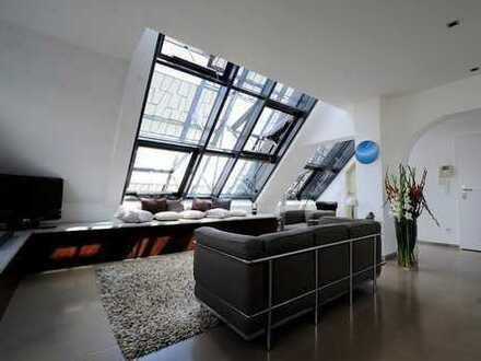 Rheinauhafen, außergewöhnliche moderne möblierte 3-Zimmer-Terrassenwohnung mit 2 Bädern