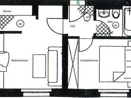 ** schöne 2-Raum Wohnung mit kleiner Einbauküche in Marienthal am HBK **