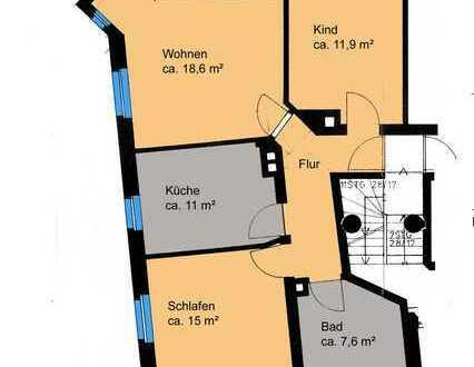 3-Zimmer Wohnung denkmalgeschütztem Anwesen