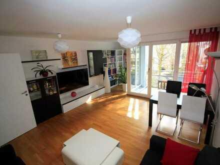 Teilmöblierte, wunderschöne 3-Zimmer-Wohnung mit Balkon ins Grüne