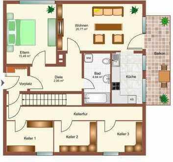 Großzügige 2 Zimmerwohnung