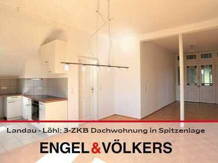 Landau - Löhl: 3-ZKB Dachwohnung in Spitzenlage