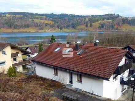 Haus mit See- und Bergblick