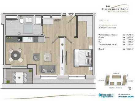 Moderne und gut geschnittene 2-Zimmer-Wohnung