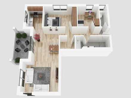 3 Zimmer purer Wohngenuss in Traumlage und sonnigem Balkon (Wohnung 8, 2. OG)