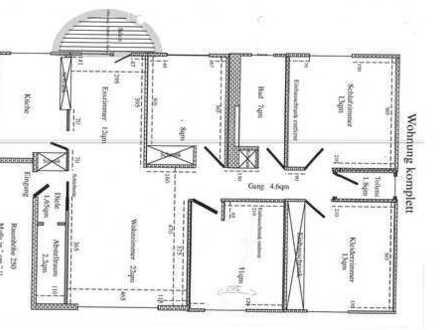 Gepflegte 5-Raum-Wohnung 110qm mit Balkon und Einbauküche in Fürth