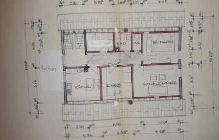 3-Zi-DG mit großem Balkon und Einbauküche in Weilstetten in 2 Fam. Haus