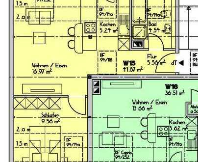 neu ausgebaute 2 Zimmer-Wohnung in zentraler Lage