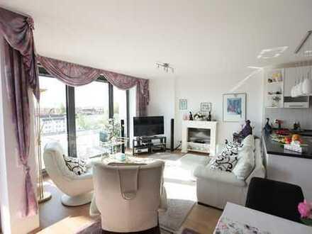 Elegante 2-Zimmer-Wohnung mit großer Loggia im AXIS-Tower.  Mit traumhaftem Ausblick
