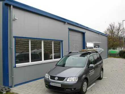 Moderne Gewerbehalle 200m² mit 3 Stellplätzen und Aussenanlage, insg. 717m², Gasheizung