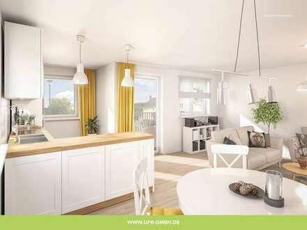 Attraktive Obergeschoss-Wohnung mit einem großen Wohn-Ess-Kochbereich und einem Balkon