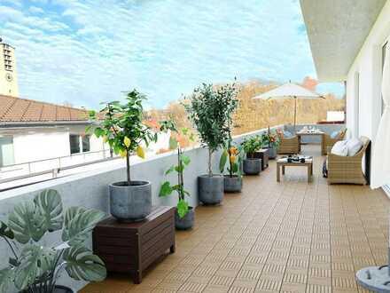 Exklusives Penthouse- und Loftgefühl - 73 m² große Dachterrasse