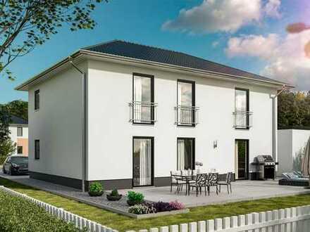 Elegantes Design trifft cleveres Wohnkonzept - Zweifamilienhaus auf schönem Grundstück