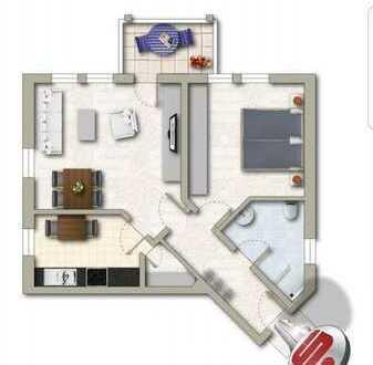 Modernisierte 2,5-Zimmer- Wohnung mit Balkon, Einbauküche und TG-Stellplatzin Adelmannsfelden