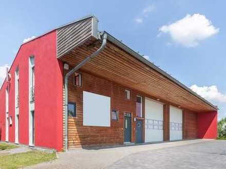 Modernes Gewerbeareal mit Lager, Büros, Betriebswohnung und Außenflächen