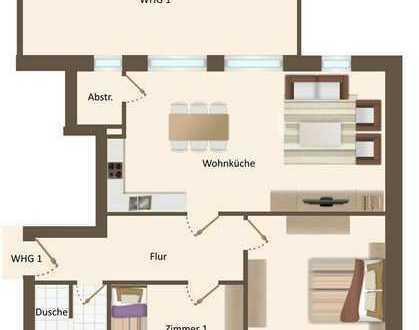 Erstbezug mit Dachterasse und Balkon: ansprechende 3-Zimmer-Wohnung in Vechta