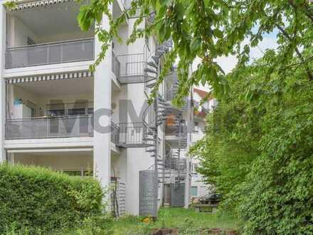 Modern und zentral: Bewohnte 2-Zi.-ETW mit großem Balkon und TG-Stellplatz in Worms