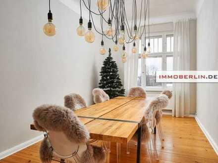 IMMOBERLIN.DE - Charmante Altbauwohnung mit Südloggia & -balkon in Havelnähe