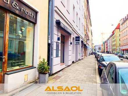 ALSAOL Immobilien: Hochwertige, kleine Gewerbeeinheit im begehrten Glockenbachviertel!