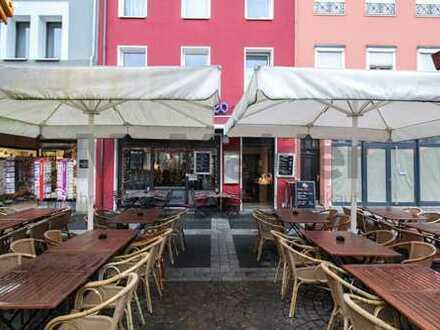 Wohn- und Geschäftshaus mit vermieteter Gaststätte zentral in Brühler Innenstadt