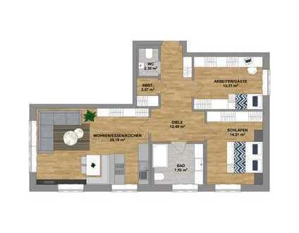 Im Herzen von Sonthofen - attraktive Neubauwohnung im Erdgeschoss mit Tiefgarage zu verkaufen.