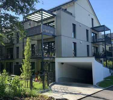Penthaus–Dachgeschosswohnung, große Sonnenterrasse mit Weitblick