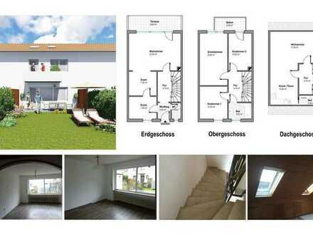 Lechhausen RMH, 5,5 Zi.-124 m² Wfl.-Garage . Sofort Frei !!