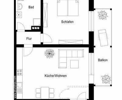***RESERVIERT***Gemütliche 2 Zimmer-Erdgeschosswohnung mit Balkon