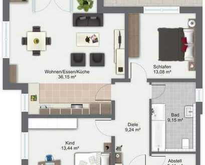 Attraktive Wohnung mit großer Terrasse