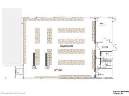 BEIL BAUGESELLSCHAFT: Großzügige Gewerbe- und Verkaufsfläche in Heilsbronn