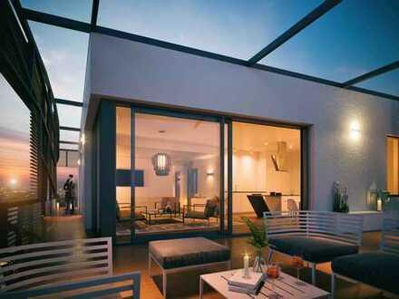 Atemberaubende Dachterrasse mit Blick auf die Skyline! 4-Zimmer-Penthouse am Frankfurter Riedberg