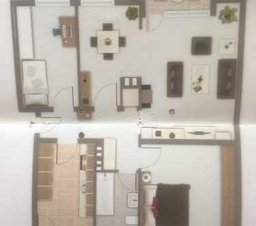 Gepflegte 3,5-Zimmer-Wohnung mit Balkon und EBK in Wahn