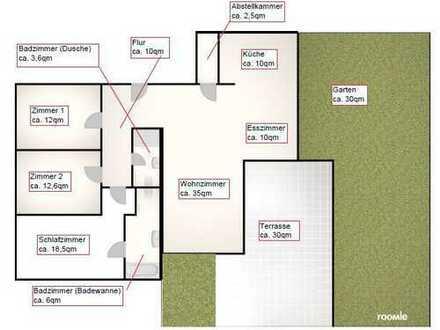 Stilvolle 4-Zimmer-Terrassenwohnung mit Balkon und EBK in Essen - Steele