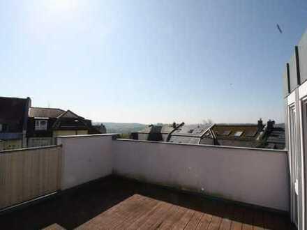 4-Raum-Maisonette-Wohnung im Westend mit Dachterrasse, 2 Balkonen und Einbauküche!!