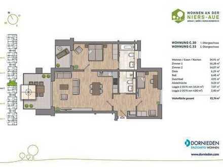 Hier lässt´s sich leben! 3-Zimmer-Wohlfühloase mit 2 Balkonen
