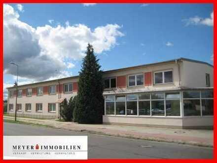 Spreewald: attraktives Bürohaus mit Keller, Gewerbehof & Garagen im Gewerbegebiet