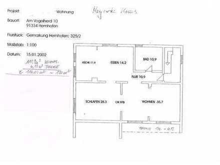 Schöne, geräumige drei Zimmer Wohnung in Hemhofen