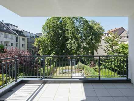 Gartenstraße-Traditionslage Hofgarten:4-Zi-Domizil im 2. OG. Direktlift. 2 Bäder. 2 Balkone. EBK. TG