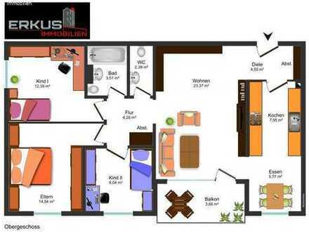 KL: Gemütliche 4-Zimmer-Wohnung in bevorzugter Lage!