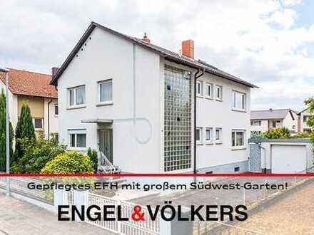 Dannstadt-Schauernheim: Gepflegtes EFH mit großem Südwest-Garten, Garage und Werkstatt