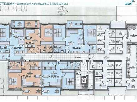 Neubau-Wohnung (Nr. 3) in Quierschied-Göttelborn, KfW 55