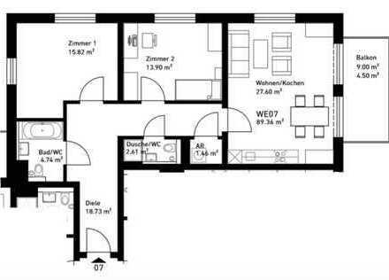 Wunderschöne 3-Zimmerwohnung mit Gäste-WC