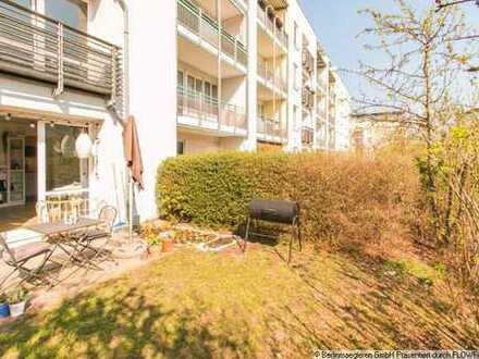 Helle 1,5 Zimmer Terrassenwohnung mit Gartenanteil und Tiefgaragenstellplatz