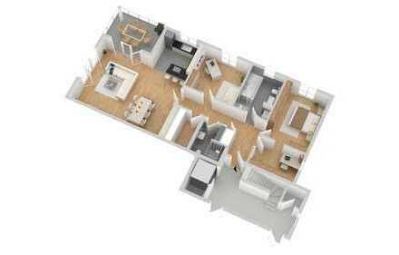 Erdgeschoss Wohnung mit exklusivem Gartenanteil in Weyhausen