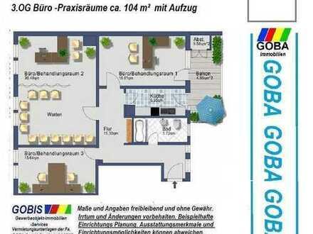 Lu City Büro/Praxis 104 m² moderne Räume /hochwertige + technische Ausstattung