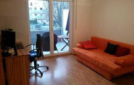 Voll möblierte 2-Zimmer-Wohnung mit großem Balkon mit toller S-Bahn-Anbindung (S8 Flughafen)
