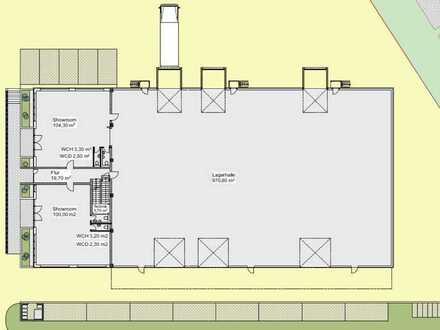 Neubauprojekt | | Hallenfläche mit Büro- und Ausstellungsräume | | teilbar