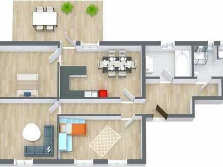großzügige 3-Zimmer-Wohnung in ruhiger Wohnlage