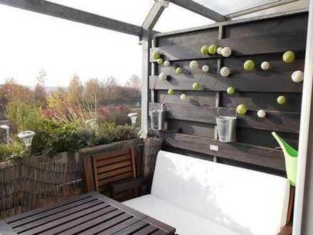 Sonnige 3,5 Zimmerwohnung mit genussvollem Ausblick in die Natur und ausgebautem Dachstudio